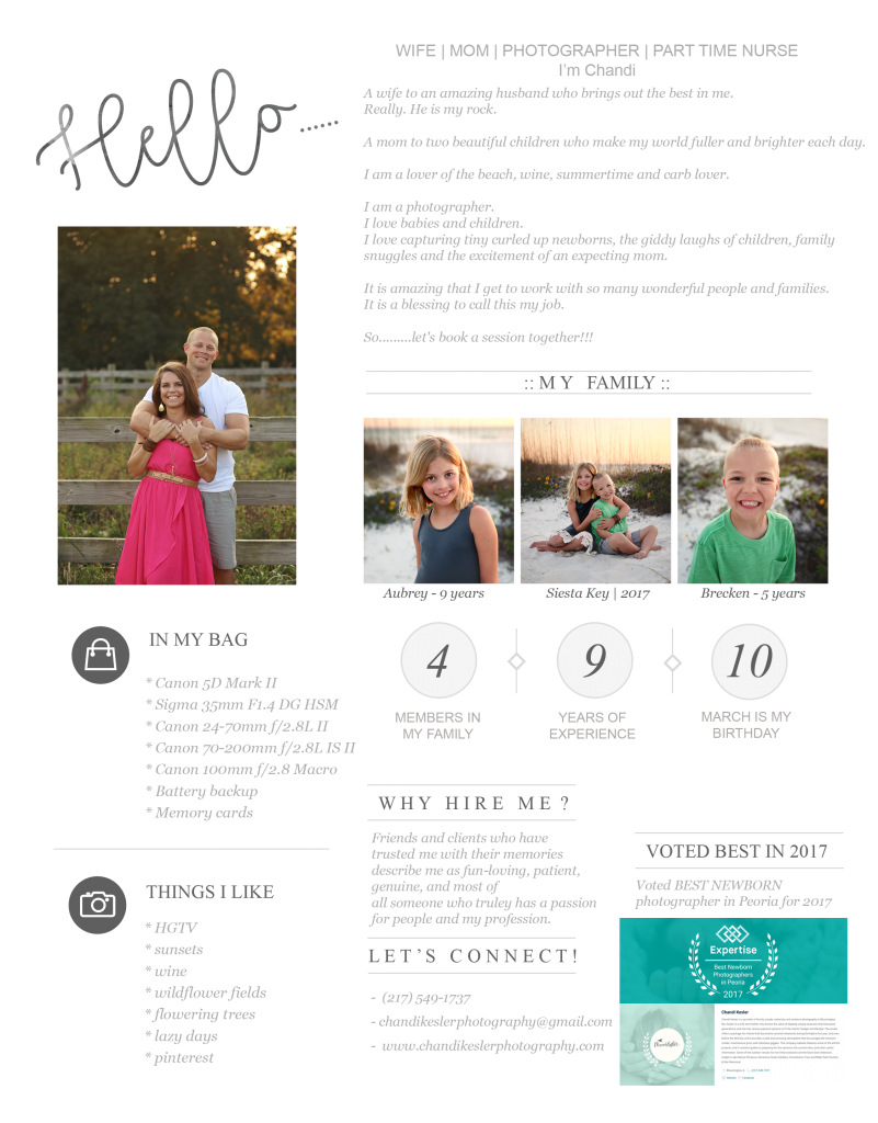 Information about chandi Kesler | Central IL Photographer