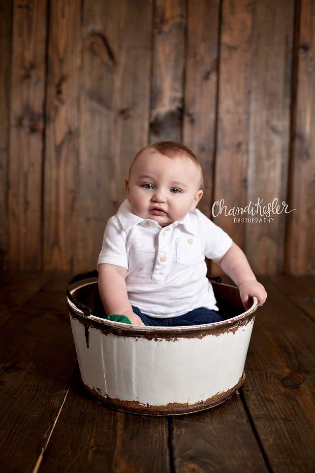 Bloomington Illinois Baby Photographer 6 months