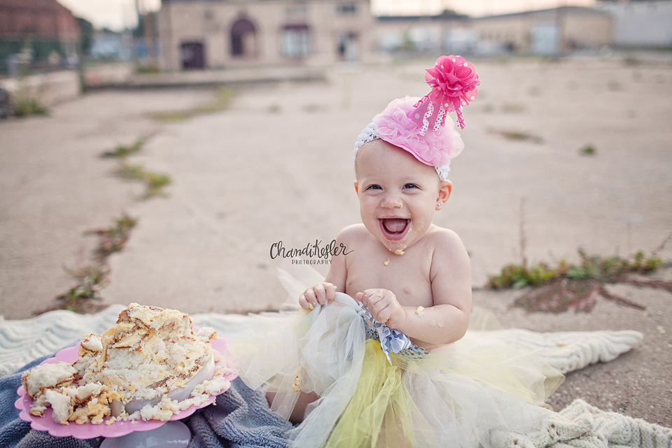 One year Session Ideas | Monticello Baby Photographer | Cake Smash