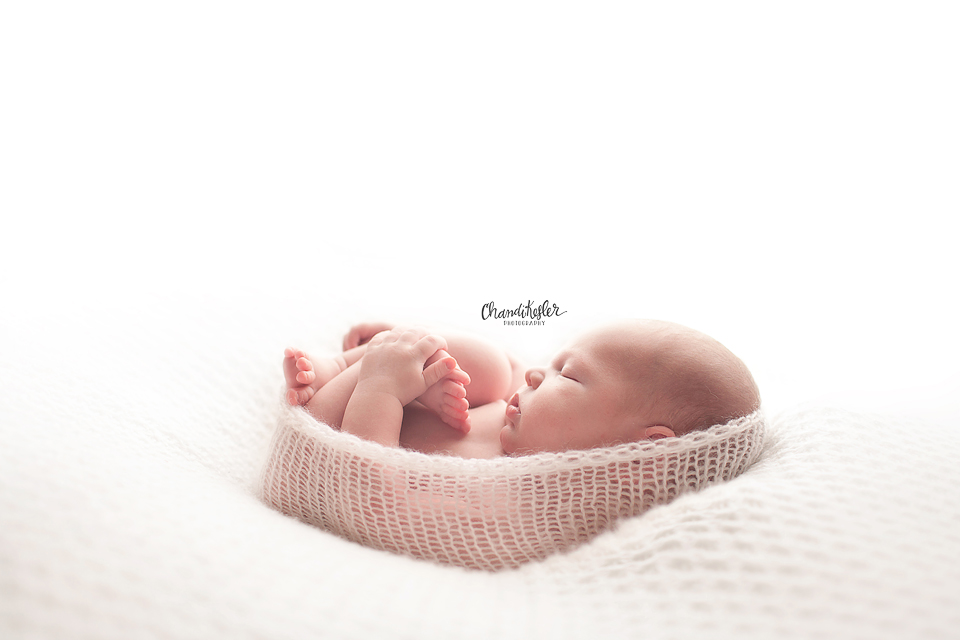 Bloomington Newborn Photographer - dream lighting with newborn
