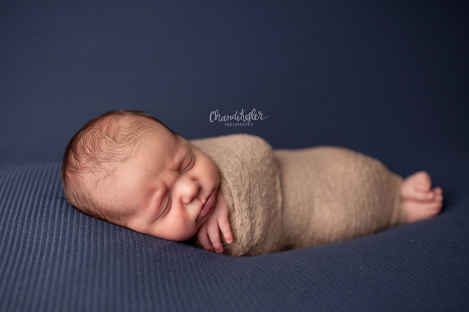 Clinton Illinois Newborn Photographer - Newborn beanbag posing ideas