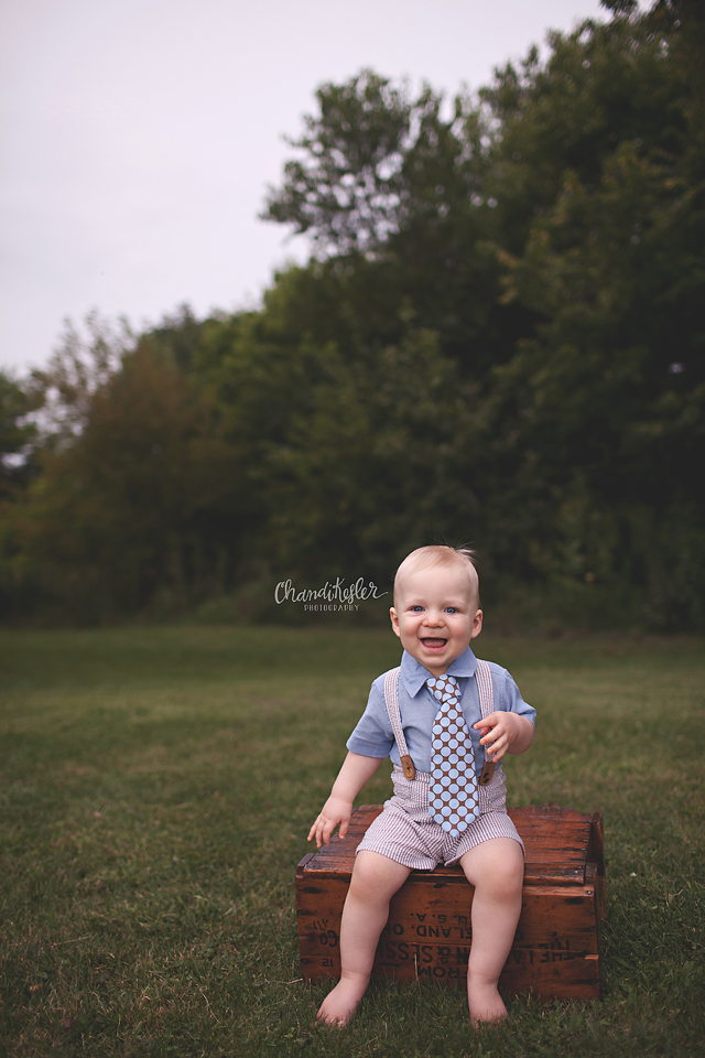 1 year on location session - Fairbury IL Baby Photographer