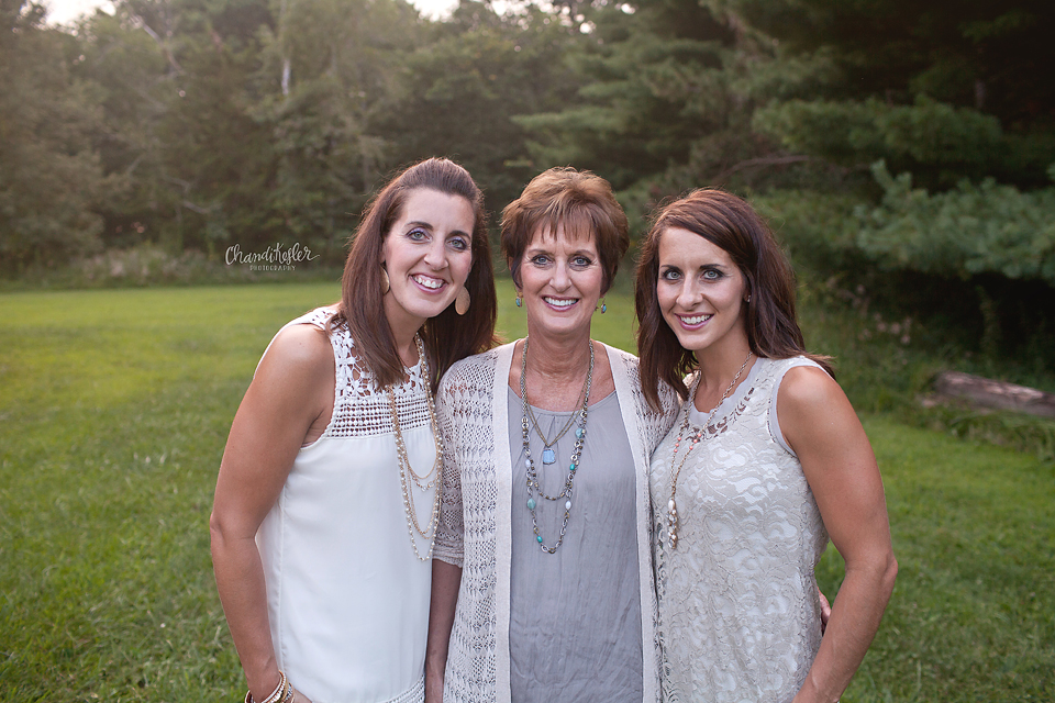 Mahomet Illinois Family Photographer - Mother and daughters pose