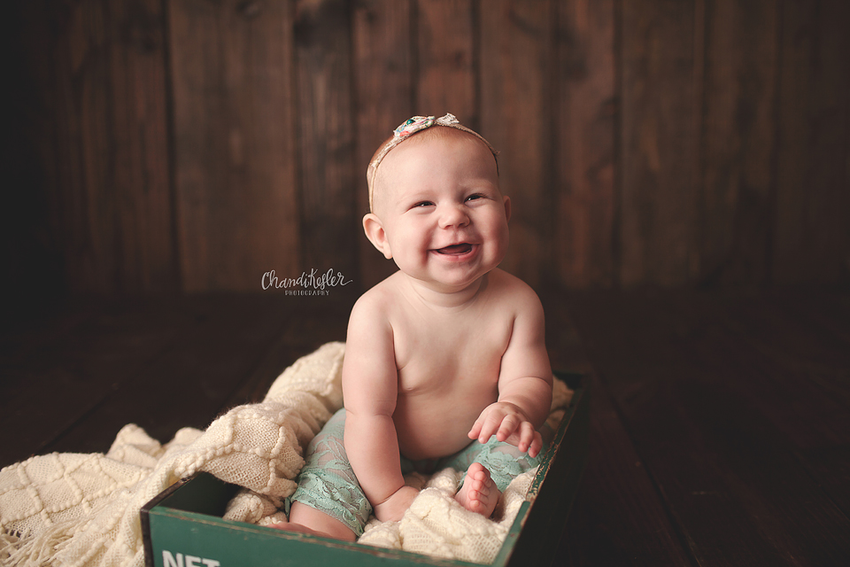 6 month session - Morton Illinois Photographer - Chandi Kesler Photography
