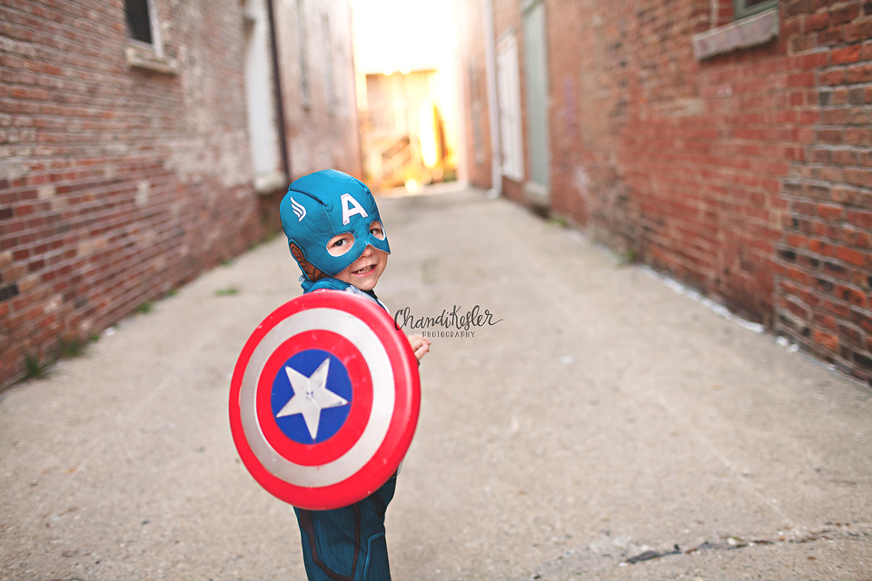 Superhero Photo Session - Bloomington IL Child Photographer