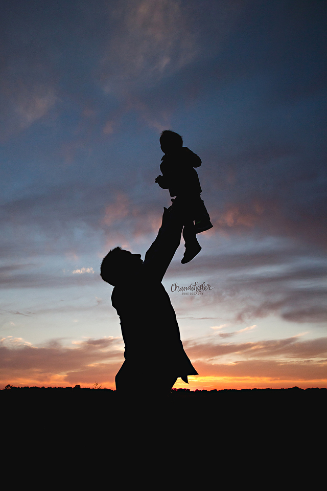 Lincoln Illinois Photographer - silhouette family photos