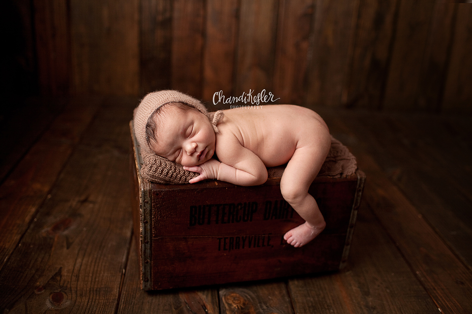 Photographer Champaign IL | Newborn Photography | Prop Pose  | Chandi Kesler Photography