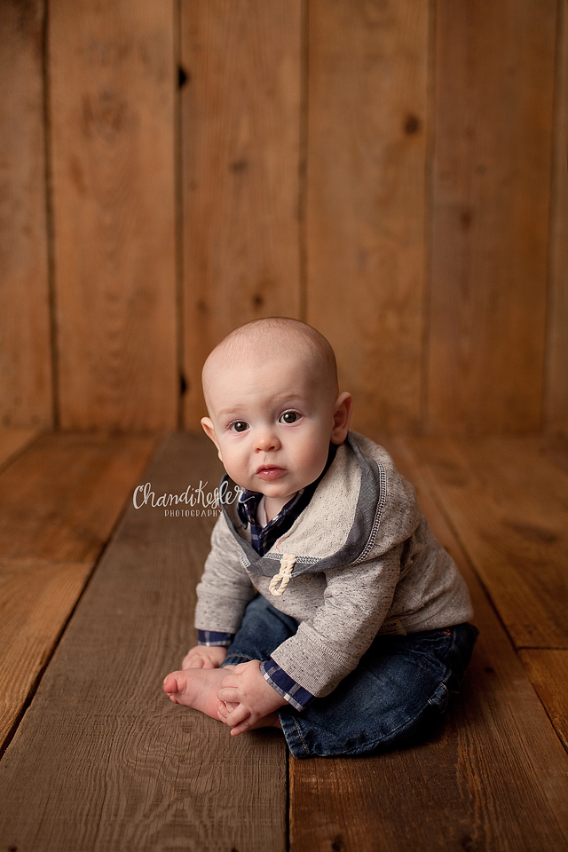 Decatur IL  Photographer | 6 month baby studio session | Chandi Kesler Photography