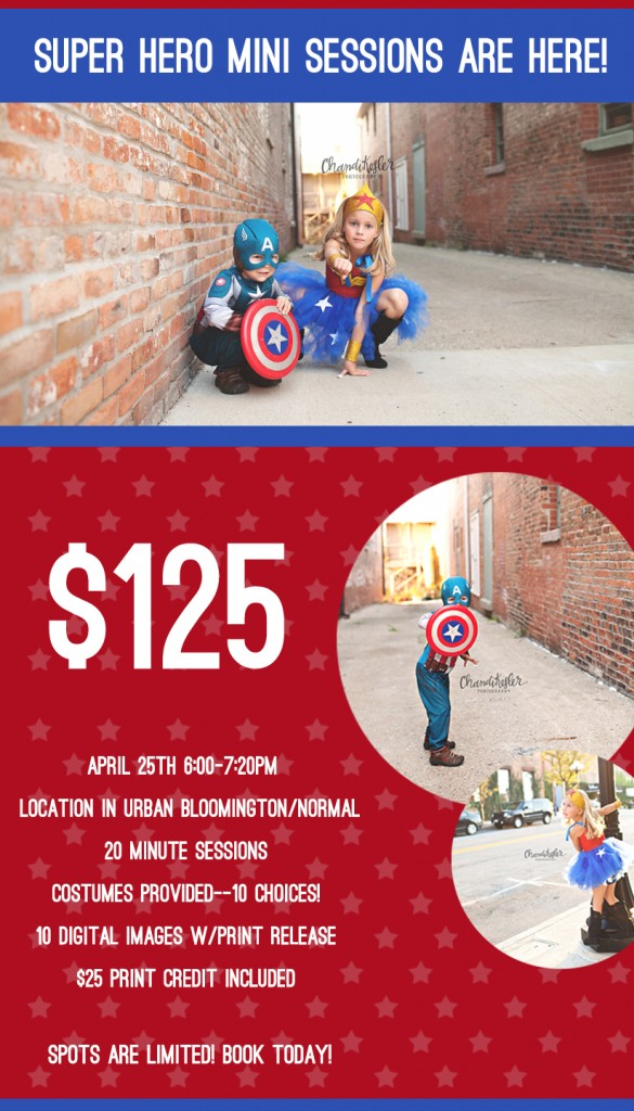 Superhero mini sessions - Bloomington il
