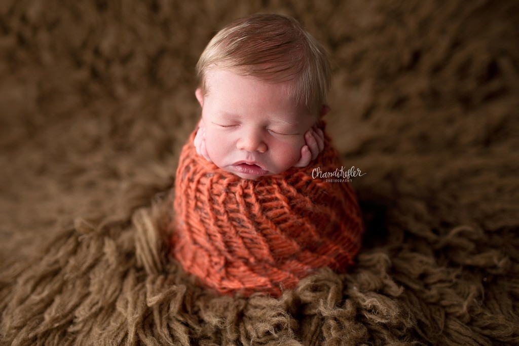 Bloomington IL Baby Photographer | Newborn Boy Photos | Chandi Kesler Photography - potato sack pose
