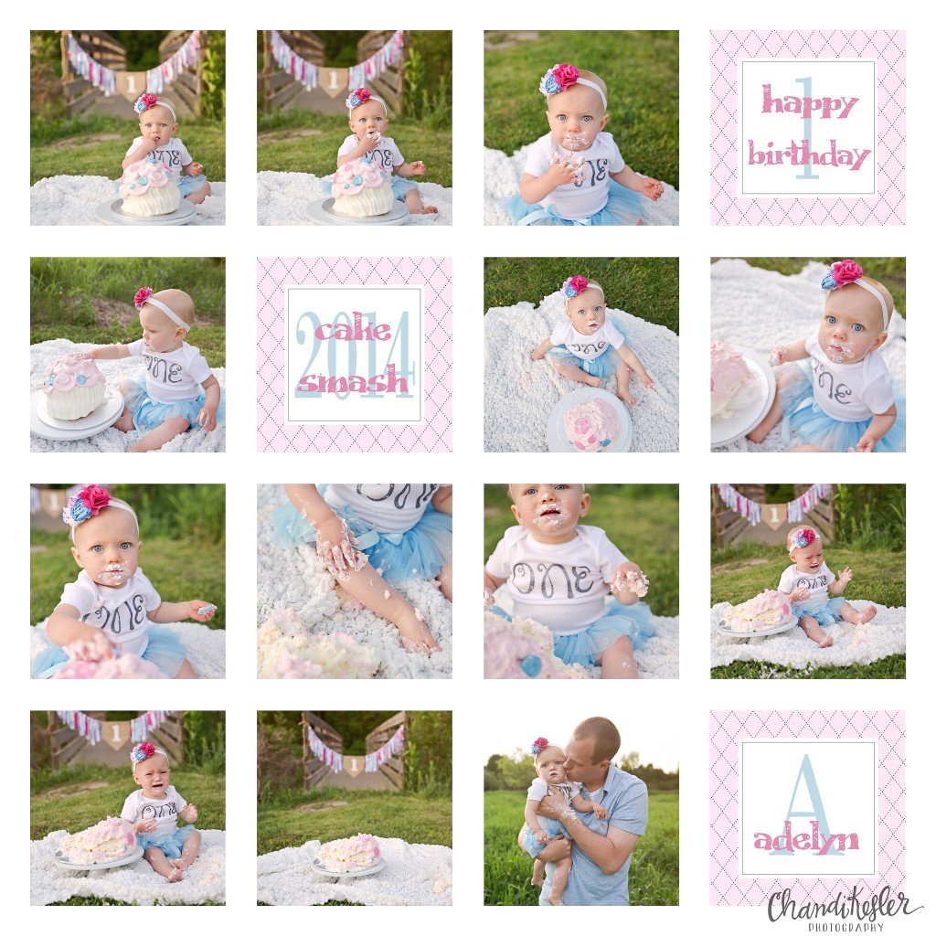 1 year baby pictures | Champaign Baby Photographer | Chandi Kesler Photography | Bloomington IL | Cake Smash