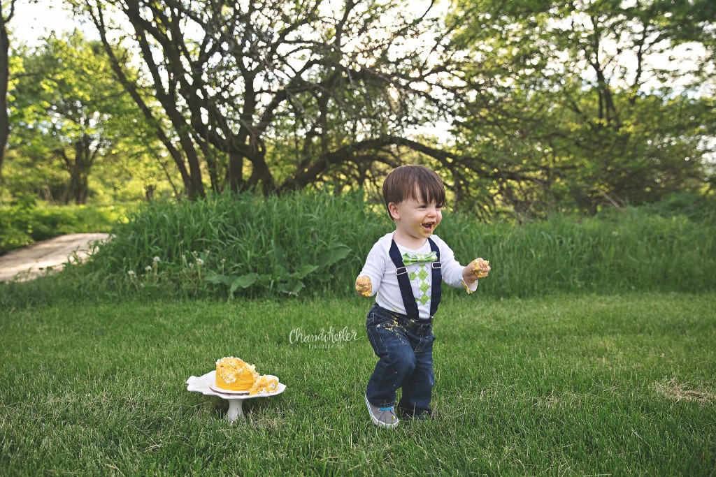 Bloomington IL Photographer | Chandi Kesler Photography | 1 year photos | cake smash
