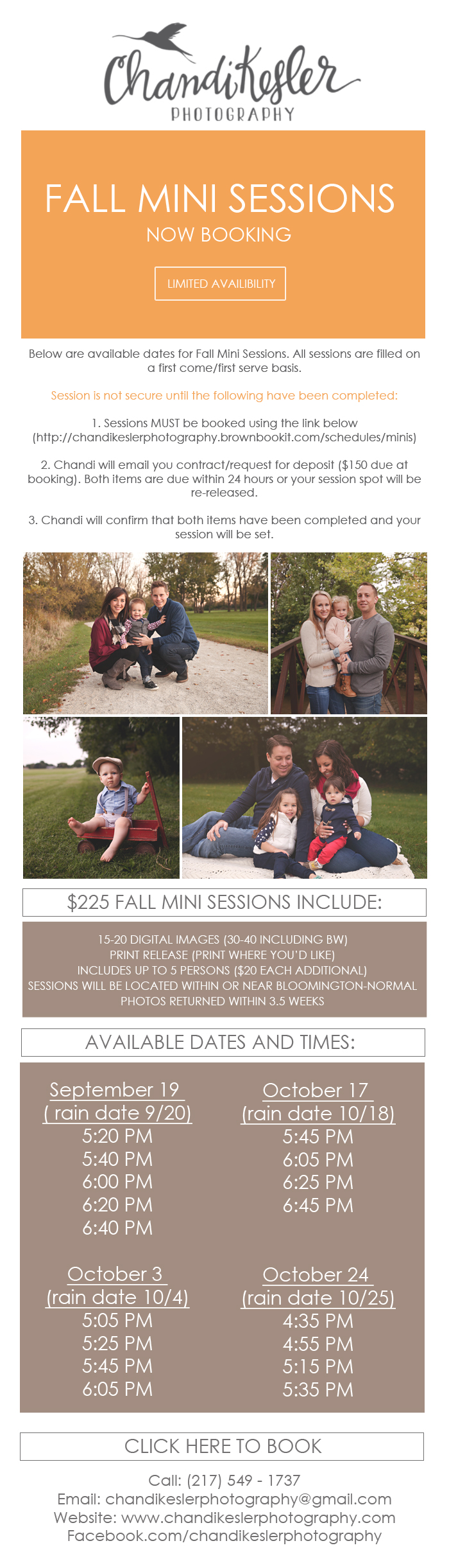 Bloomington IL Family photographer | Fall Mini Sessions