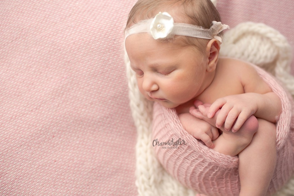 Clinton IL Newborn Photographer | Chandi Kesler Photography | newborn wrapped pose