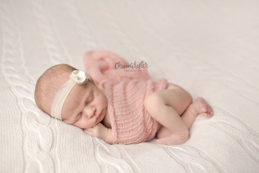 Champaign IL Newborn Photographer | Side Lying Newborn | Chandi Kesler Photography