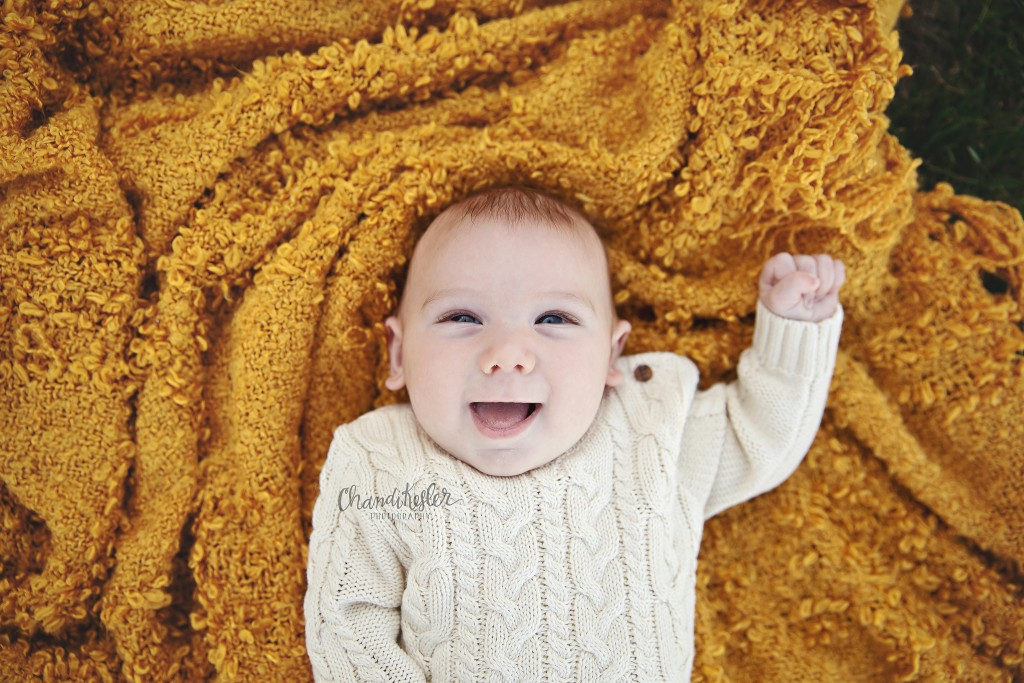 Clinton IL Child Photographer | 3 month old outdoor Session | Chandi Kesler Photography