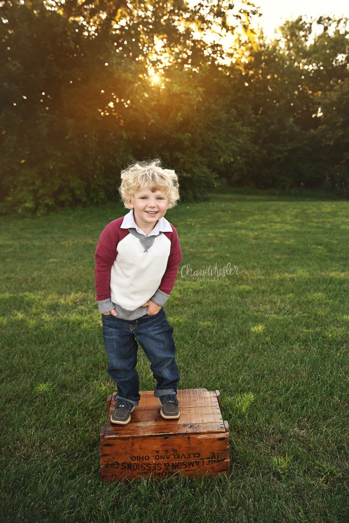 Clinton IL Child Photographer | 3 year old Session | Chandi Kesler Photography