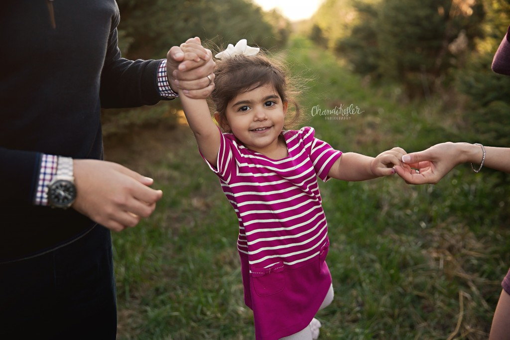Christmas Tree Farm | Red Oak Tree Farm | Bloomington IL Family Photographer