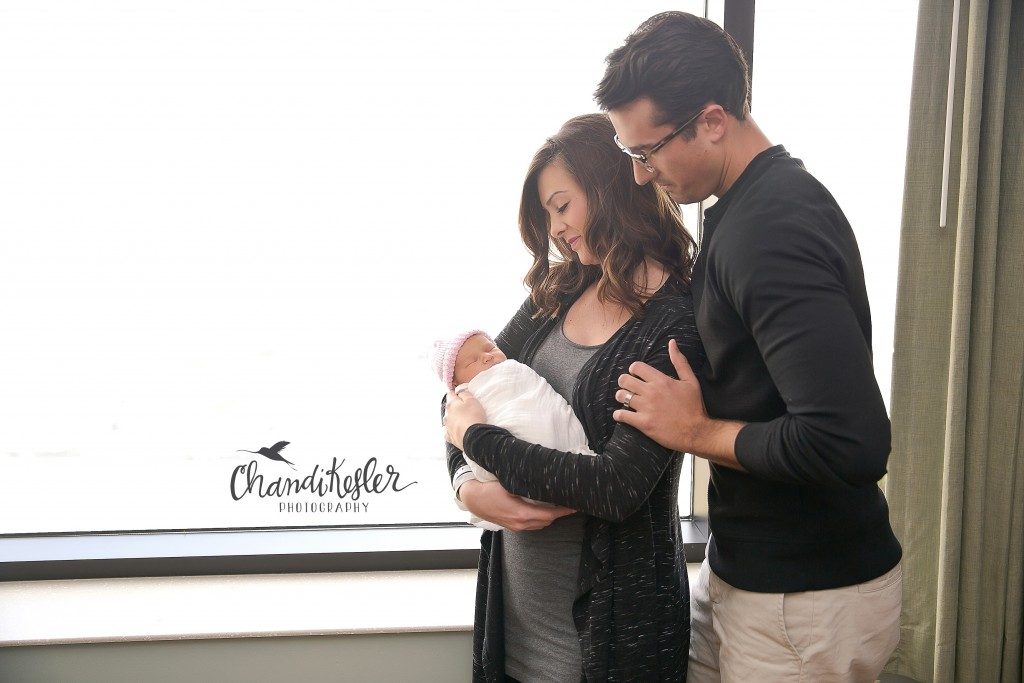 Fresh 48 newborn hospital session | OSF Bloomington IL | Chandi Kesler Photography