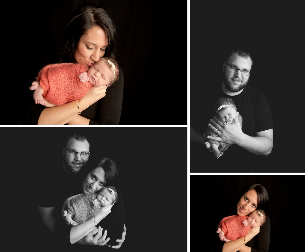 Newborn Family Poses | Newborn photos black background | bloomington il photographer