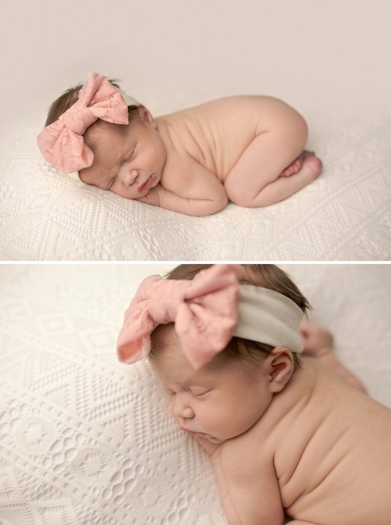 Newborn tushie up Pose | Newborn beanbag poses | bloomington il photographer