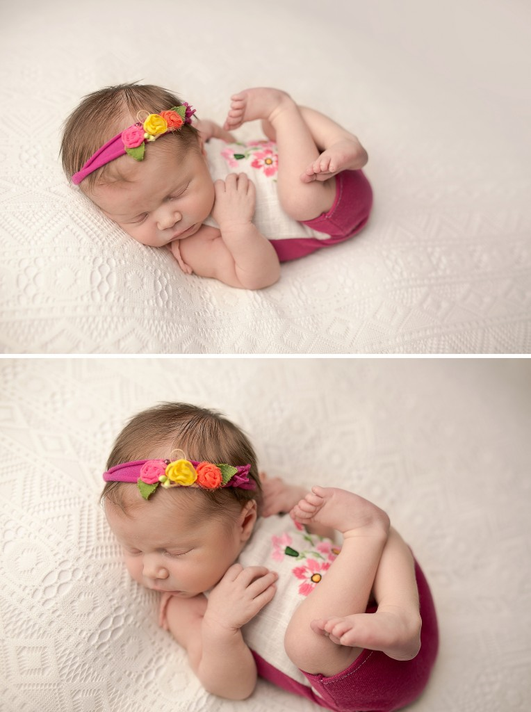 Newborn romper | Newborn beanbag poses | newborn back lying pose | bloomington il photographer