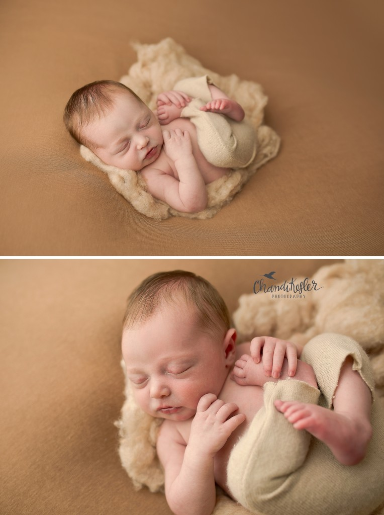 Newborn Posing | Newborn beanbag posing| Chandi Kesler Photography | Best Central IL Newborn Photographer