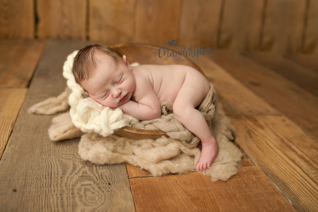 Newborn Prop Posing | Newborn Posed in a Bowl | Chandi Kesler Photography | Best Central IL Newborn Photographer