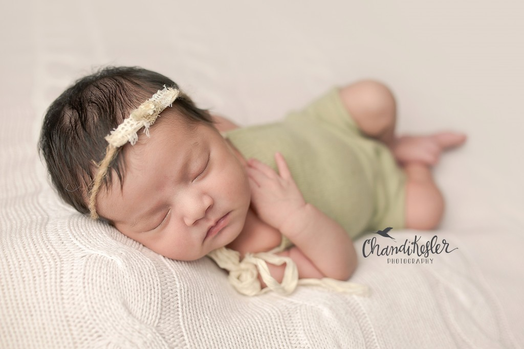 Huckleberry Baby newborn romper | Chandi Kesler | Best Central IL Newborn photographer