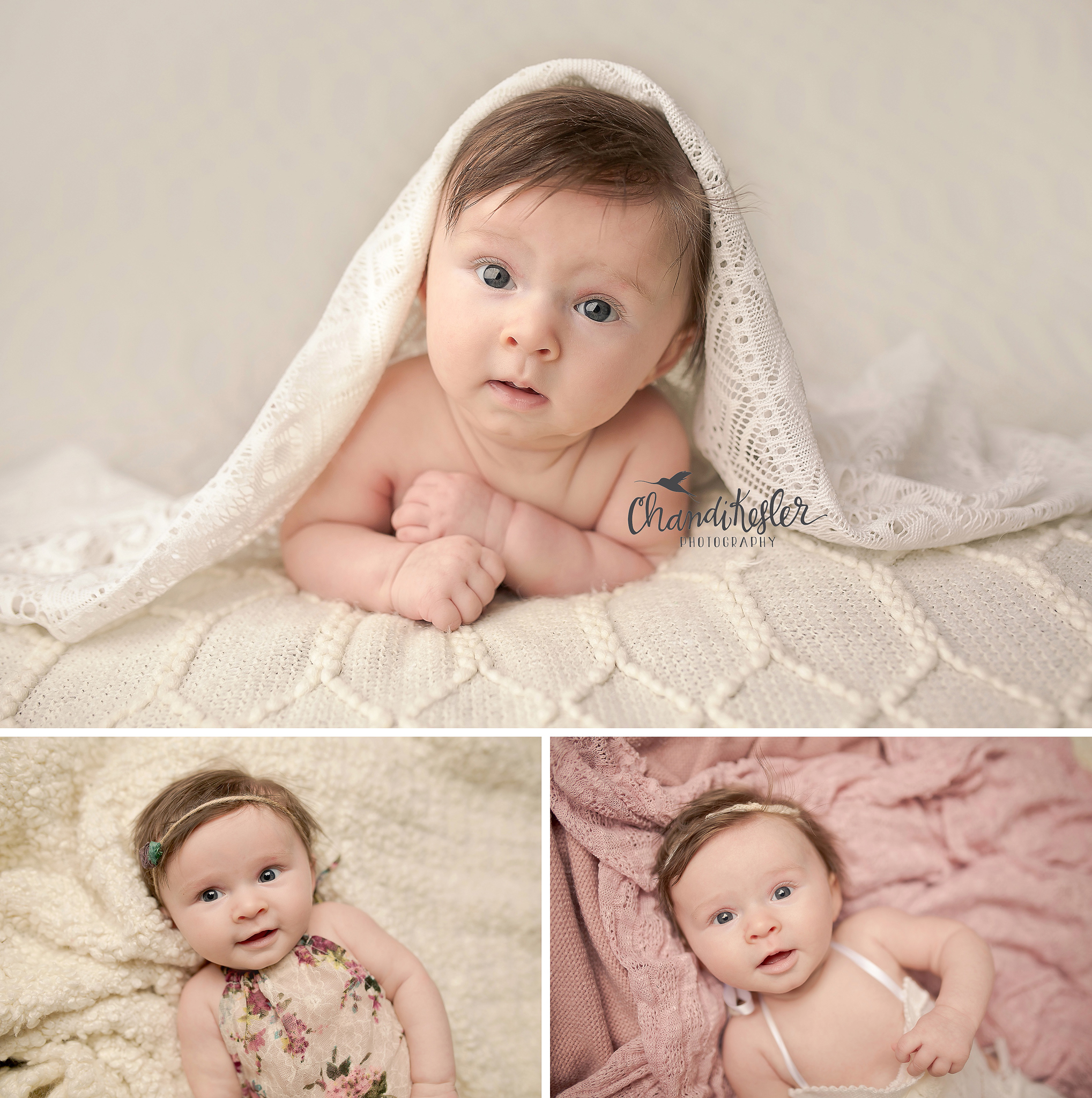 Gibson city il photographer chandi kesler photography 3 month baby session