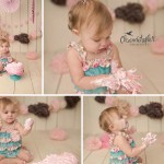 1 Year Session and Cake Smash with Nora | Bloomington IL Baby Champaign IL Photographer