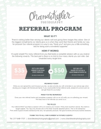 Photography Referral Program   Central IL Newborn Photography   Chandi Kesler Photography