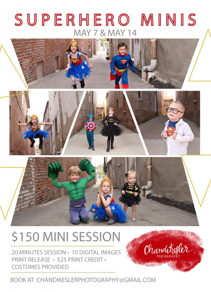 Bloomington IL photographer | Best photographer bloomington il | SUPERHERO MINI SESSIONS