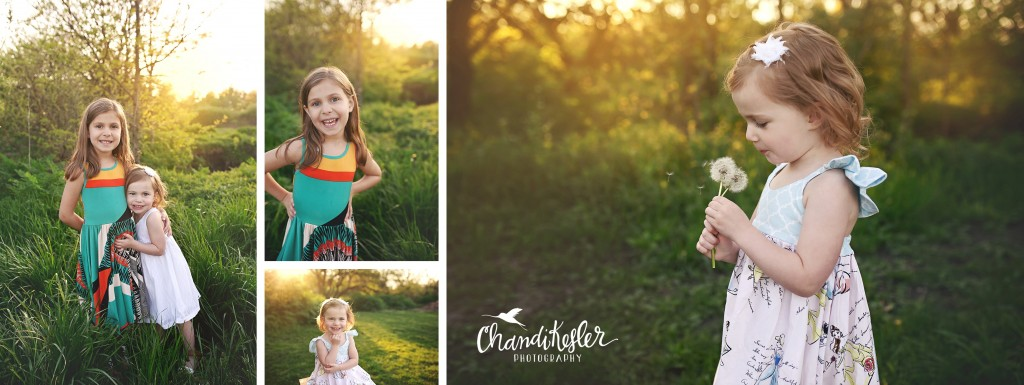 Outdoor Child Session | 3 year old girl pictures | Chandi Kesler Photography | Bloomington IL Photographer