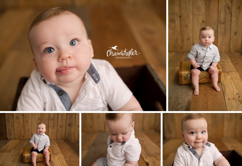 9 month picture | 9 month milestone session | Baby Photographer Mahomet IL