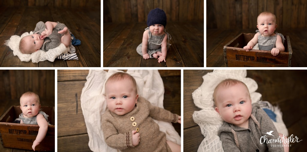 Mahomet IL Photographer | 6 Month Pictures | Bloomington IL Photographer