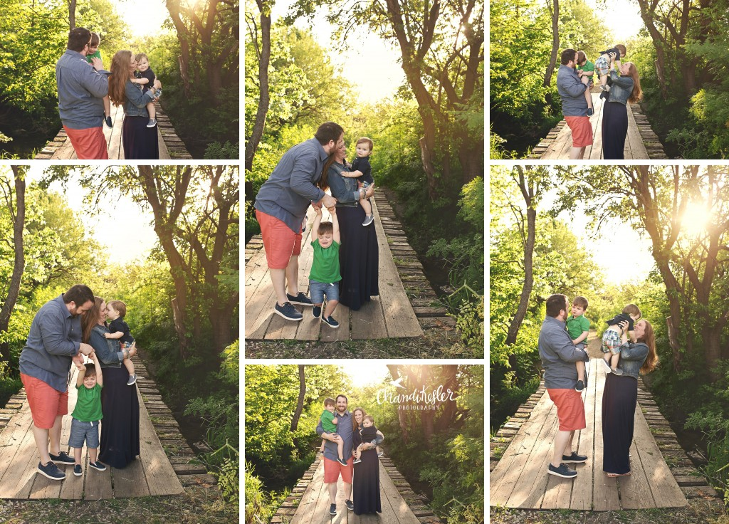 Famliy of 4 poses | Chandi Kesler Photography | Bloomington IL Photographer