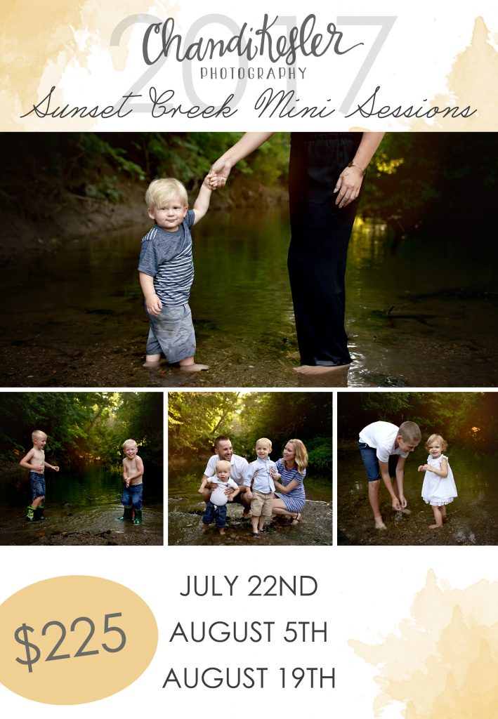 Creek Mini Sessions | Bloomington IL Photographer | Chandi Kesler Photography
