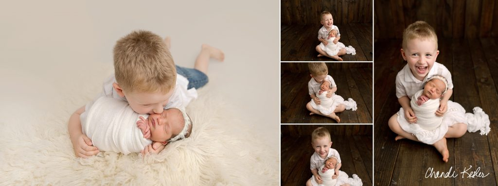 Newborn with Sibling | Rantoul IL Newborn Photographer | Chandi Kesler Photography