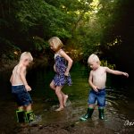 2016 Sunset Creek Mini Sessions | Peoria IL Family Urbana IL Creek Photography