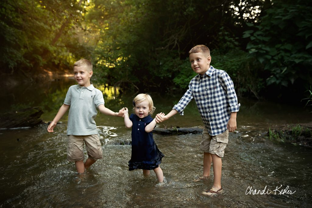 Decatur IL Photographer | Sunset Creek | Chandi Kesler Photography | Creek Pictures