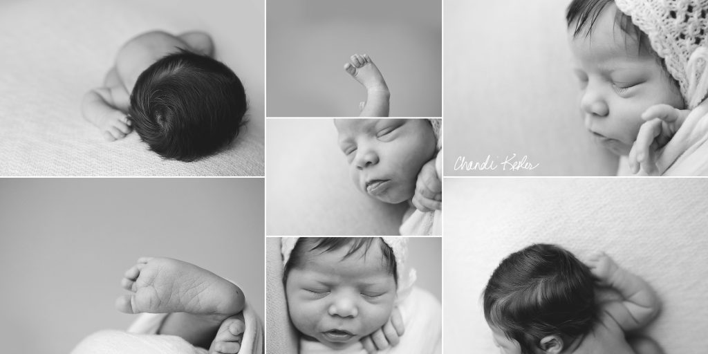 Clinton IL Newborn Photographer | Newborn Girl session with blues and yellows | Chandi Kesler Photography