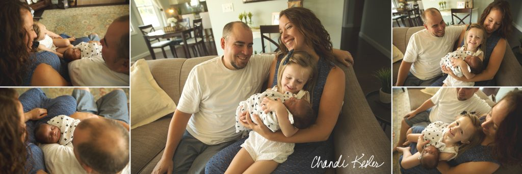 Lifestyle Newborn Pictures | Chandi Kesler Photography | Leroy IL Newborn Photographer