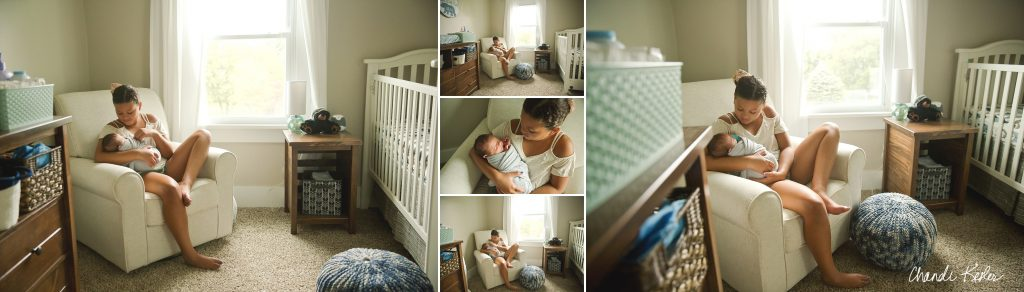 Bloomington IL Lifestyle newborn photographer | Chandi Kesler | In home Newborn Photographer Central IL
