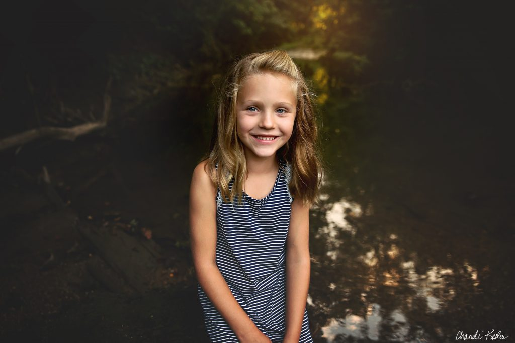 Peoria IL Creek Mini Session | Chandi Kesler Photography