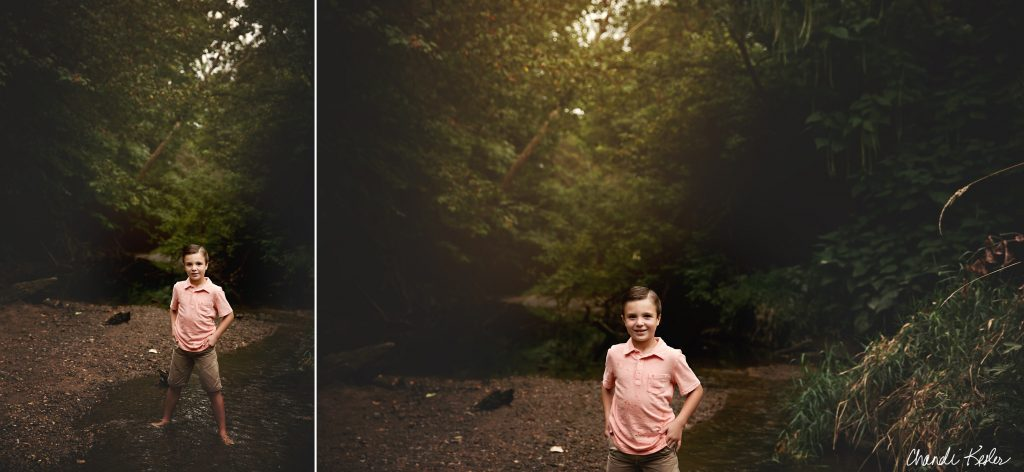 Champaign IL Creek Mini Session | Chandi Kesler Photography