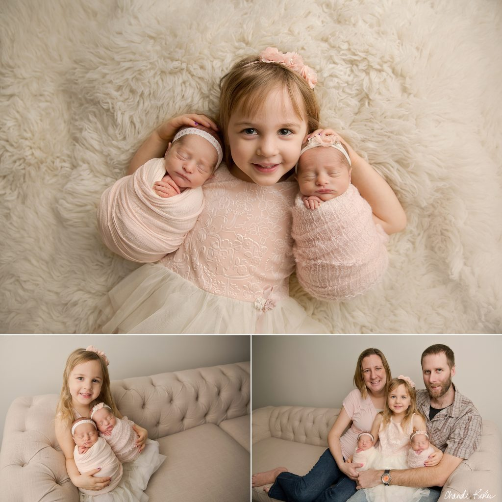 Charleston IL Newborn Photographer | Chandi Kesler Photography | Newborn Twin Picture Ideas