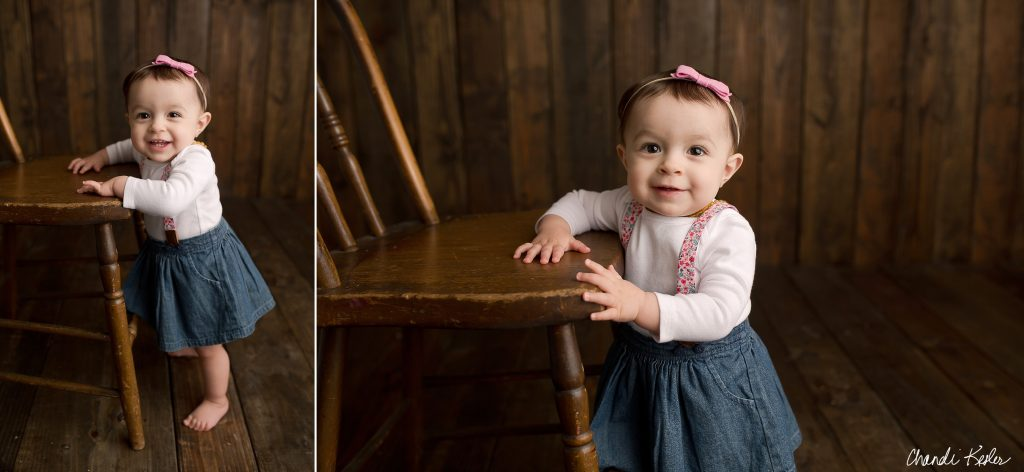 Tremont IL Photographer | 1 Year Girl Picture Ideas | Chandi Kesler Photography