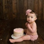1 Year Session and Cake Smash with Lola | LeRoy IL Baby Gibson City IL Newborn Photographer