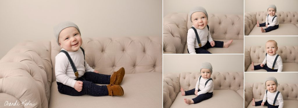 Champaign IL Photographer | 6 month boy session ideas | Chandi Kesler Photography
